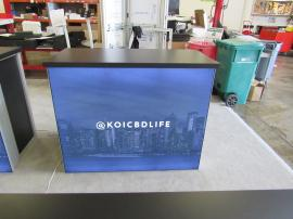 (4) MOD-1700 Backlit Counters with Tension Fabric Graphics and Locking Storage -- Image 4